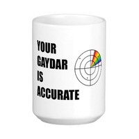 Your gaydar is accurate LGBT Pride Classic White Coffee Mug