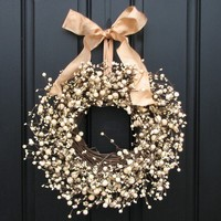 Champagne Berries Wreath by twoinspireyou on Etsy