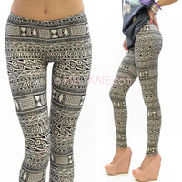 Tribal Print Aztec Leggings