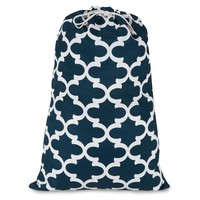 Navy Trellis Laundry Bag