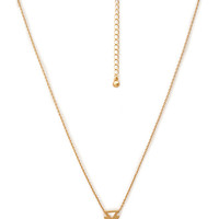 FOREVER 21 Cutout Arrow Pendant Necklace Matte Gold One