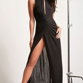 Cutout Twist-Front Maxi Dress