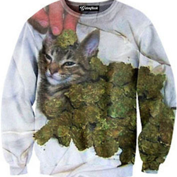 Kush in the Cat Crewneck