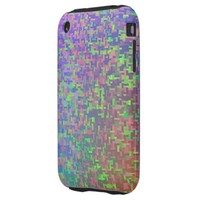 Colorful Green Purple Abstract iPhone 3 Tough Cover