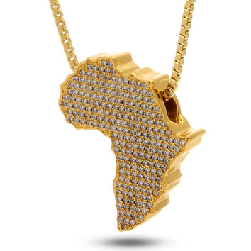 Jungl Julz 18K Gold Africa Necklace