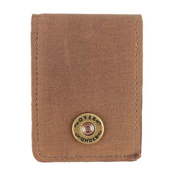The Waxed Canvas Bifold in Field Tan by Over Under Clothing