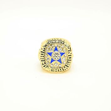 FGHGF Hot Sale 1971 Dallas Cowboys Championship Ring High Quality Ring and Fine Wooden Gift Box Classic Commemorative Gift