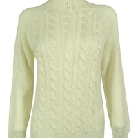 Karen Scott Women's Long Sleeve Cable-Knit Sweater