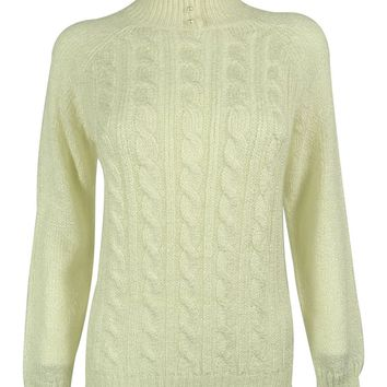 Karen Scott Women's Mock Neck Cable Knit Sweater