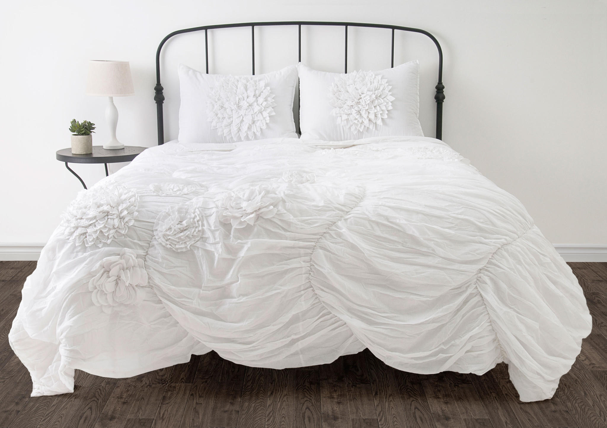 hush white twin size comforter bed set from michael anthony. Black Bedroom Furniture Sets. Home Design Ideas