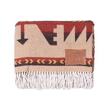 Mesa Fringe Blanket in Red by True Grit