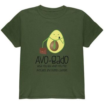 DCCKU3R Avocado Abogado Lawyer Funny Spanish Pun Youth T Shirt