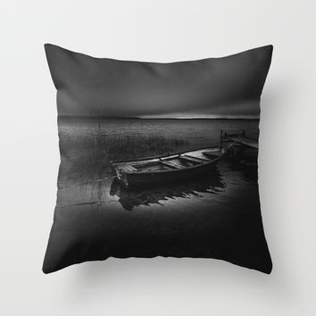 On the wrong side of the lake Throw Pillow by HappyMelvin