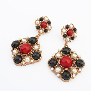 Vintage Geometric Earrings Sponge