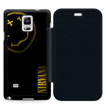 Nirvana Art Leather Wallet Flip Case Samsung Galaxy Note 4