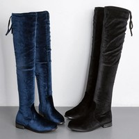 Fashion women Knee boots Long boot velvet