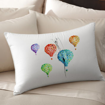 4K Unique Hot Air Balloons Art pillow cover 100% cotton handmade silk Decorative pillow case pillowcase cushion cover Bedroom Present gift
