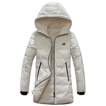 ADIDAS 2018 winter new women's women's outdoor casual sports jacket vest down jacket white
