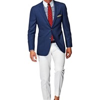 Jacket Blue Plain Havana C756 | Suitsupply Online Store