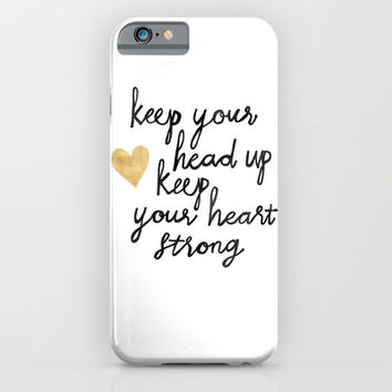 Keep Your Head Up iPhone & iPod Case by Tangerine-Tane