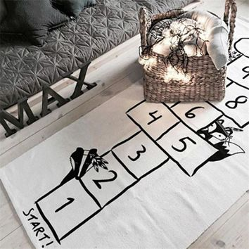 Baby Games mat lattice letter printed Play Mats Cotton Games Carpet Room Decoration Children Bedding Toy Kids Gift Number Mat