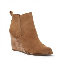 Lucky Brand Yoniana Suede Wedge Bootie