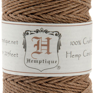 Hemp Cord Spool 20lb 205'-Light Brown