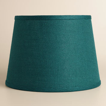 Teal Burlap Table Lamp  Shade - World Market