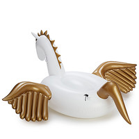 FUNBOY Inflatable Pegasus Pool Float in White & Gold