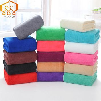 19 Colors 180x80cm Microfiber Beach Towel Supersoft Bath Towel Sport Towel Gym Fast Drying Cloth Beauty Salon Bed Large Hot Sale