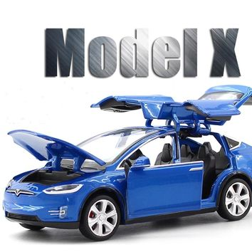 New 1:32 Tesla MODEL X Alloy Car Model Diecasts & Toy Vehicles Toy Cars Free Shipping Kid Toys For Children Gifts Boy Toy