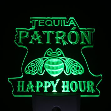 ws0207 Tequila Patron Happy Hour Day/ Night Sensor Led Night Light Sign