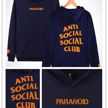 anti social club the new fall undefeated men's Sweater Hoodie [10469373315]