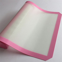 Non-Stick Silicone Mats Baking Best Glass Fiber Baking Sheet Rolling Dough Pastry Cakes Bakeware Liner Pad Cooking Tools 3 Sizes