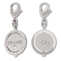 Swarovski Clear Crystal Jewelry THANK YOU Charm Rhodium #1128419