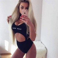 Swimwear Winter Hot Sale Women's Fashion Alphabet Print Sexy One-piece [510299832374]