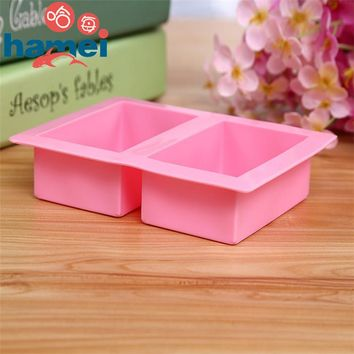 Delicate Cute Craft Art Square Silicone Oven Handmade Soap Molds DIY Soap Mold Hot Selling D597