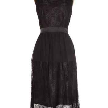 Midnight Aria Black Lace Cocktail Dress
