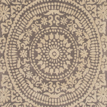 Jaipur Rugs Transitional Arts And Crafts Pattern Gray Wool Area Rug PEN04 (Rectangle)