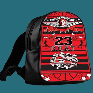 Michael Jordan Too Fly for Backpack / Custom Bag / School Bag / Children Bag / Custom
