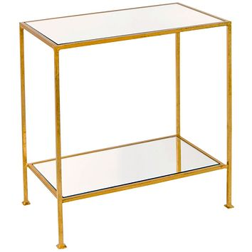 Worlds Away Plano 2 Tier Rectangular Side Table