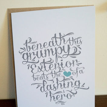Father's Day Card  Hero by gabipress on Etsy