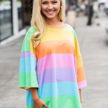 Somewhere Over The Rainbow Tunic, Yellow