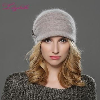 720e824a2 Shop Knit Hat With Brim on Wanelo