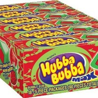 Hubba Bubba Max Gum, Strawberry Watermelon, 1.41 Ounce (Pack of 18)