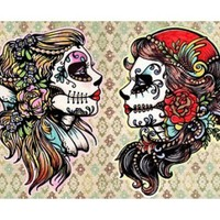 Snow White Sugar Skull 1000 Piece Jigsaw Puzzle