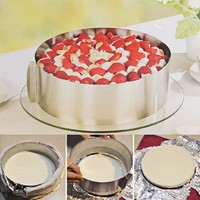 High Quality Retractable Stainless Steel Circle Mousse Ring Baking Tool Set Cake Mould Mold Size Adjustable Bakeware