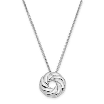 Sterling Silver CZ Sparkle And Shine 14in. Children's Necklace
