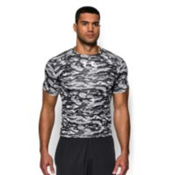 Under Armour Men's UA Freedom Woodland Stealth Camo Compression Shirt