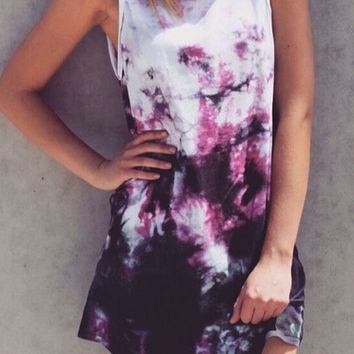 Tie Dye Chiffon Dress
